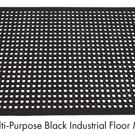 Multi-Purpose Black Industrial Floor Mat @1200