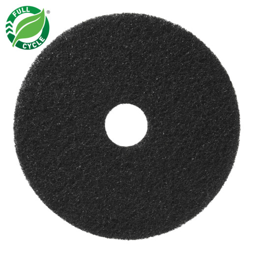 Round Black Stripping Pad with Full Cycle Logo