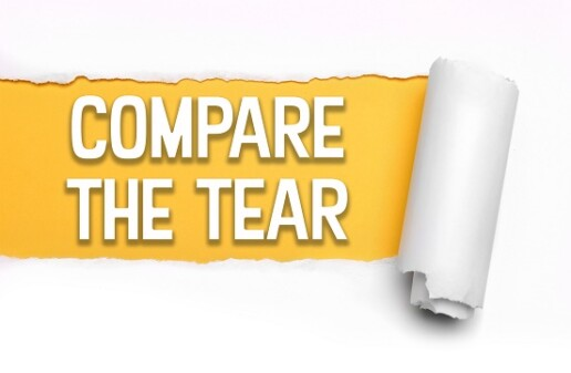 Compare the Tear. TrapEze beats the leading brand.